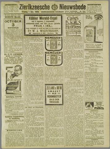 Zierikzeesche Nieuwsbode 1926-10-01