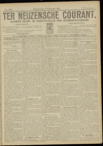 Ter Neuzensche Courant. Algemeen Nieuws- en Advertentieblad voor Zeeuwsch-Vlaanderen / Neuzensche Courant ... (idem) / (Algemeen) nieuws en advertentieblad voor Zeeuwsch-Vlaanderen 1915-02-11