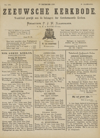 Zeeuwsche kerkbode, weekblad gewijd aan de belangen der gereformeerde kerken/ Zeeuwsch kerkblad 1889-12-28
