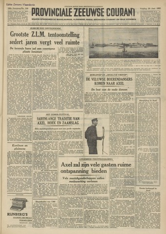 Provinciale Zeeuwse Courant 1952-06-20
