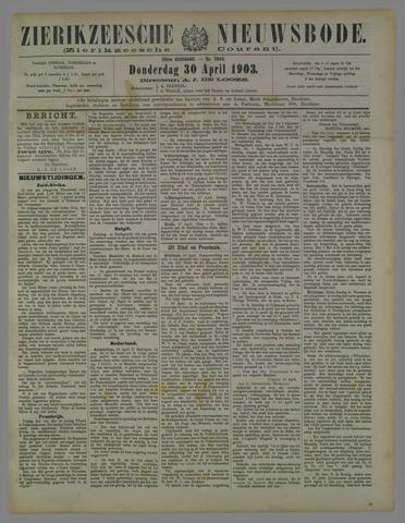 Zierikzeesche Nieuwsbode 1903-04-30