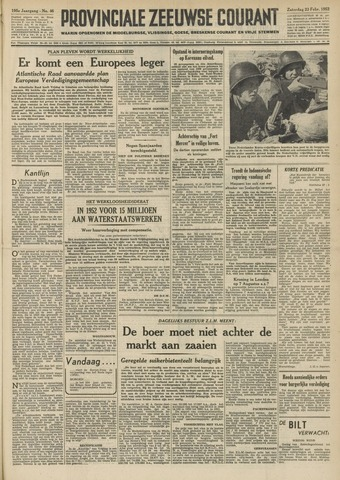 Provinciale Zeeuwse Courant 1952-02-23