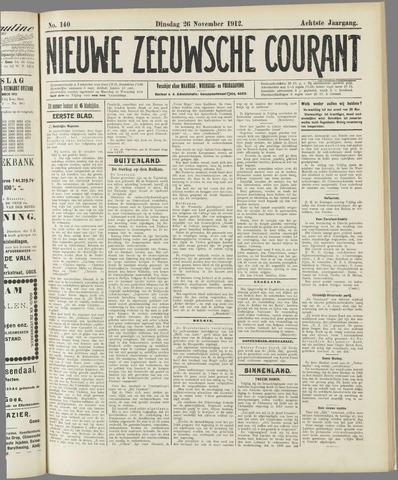 Nieuwe Zeeuwsche Courant 1912-11-26