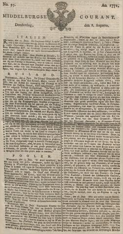 Middelburgsche Courant 1771-08-08