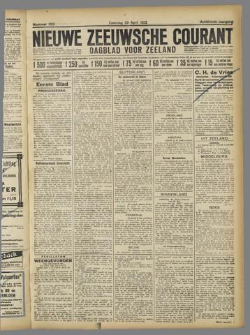 Nieuwe Zeeuwsche Courant 1922-04-29