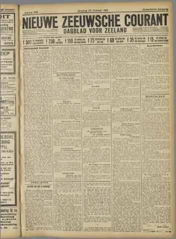 Nieuwe Zeeuwsche Courant 1921-10-25