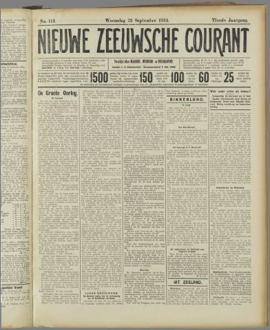 Nieuwe Zeeuwsche Courant 1914-09-23