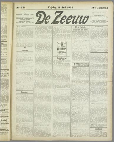 De Zeeuw. Christelijk-historisch nieuwsblad voor Zeeland 1924-07-18