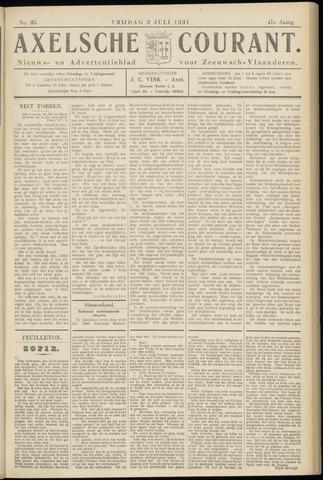 Axelsche Courant 1931-07-03