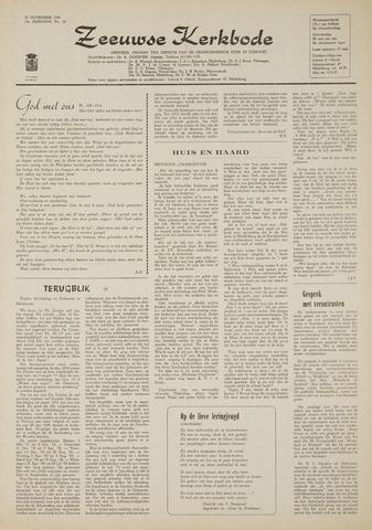 Zeeuwsche kerkbode, weekblad gewijd aan de belangen der gereformeerde kerken/ Zeeuwsch kerkblad 1969-11-20