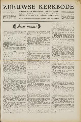 Zeeuwsche kerkbode, weekblad gewijd aan de belangen der gereformeerde kerken/ Zeeuwsch kerkblad 1950-09-29