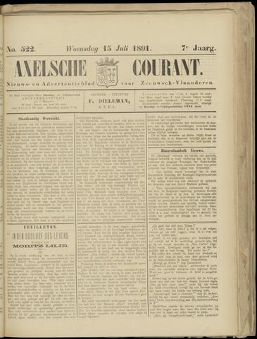Axelsche Courant 1891-07-15