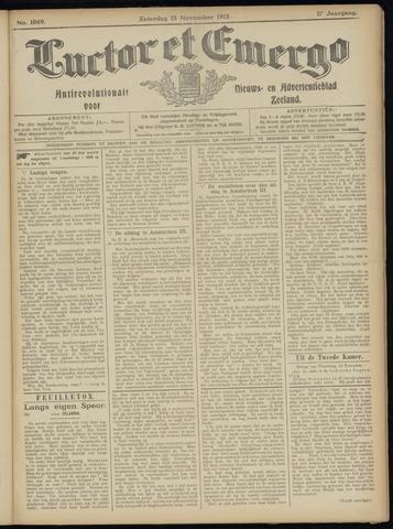 Luctor et Emergo. Antirevolutionair nieuws- en advertentieblad voor Zeeland / Zeeuwsch-Vlaanderen. Orgaan ter verspreiding van de christelijke beginselen in Zeeuwsch-Vlaanderen 1913-11-15