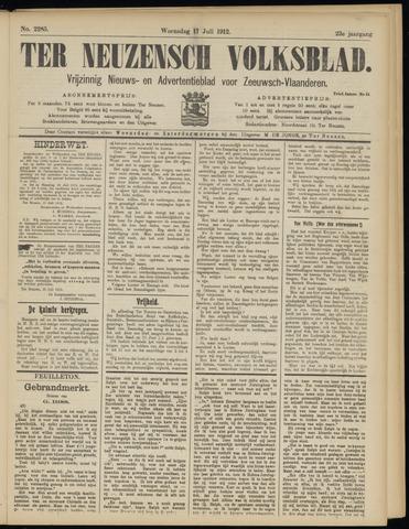 Ter Neuzensch Volksblad. Vrijzinnig nieuws- en advertentieblad voor Zeeuwsch- Vlaanderen / Zeeuwsch Nieuwsblad. Nieuws- en advertentieblad voor Zeeland 1912-07-17