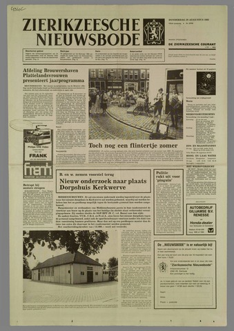 Zierikzeesche Nieuwsbode 1985-08-29