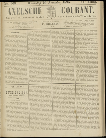 Axelsche Courant 1895-11-20