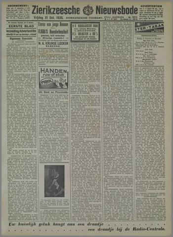 Zierikzeesche Nieuwsbode 1930-10-31