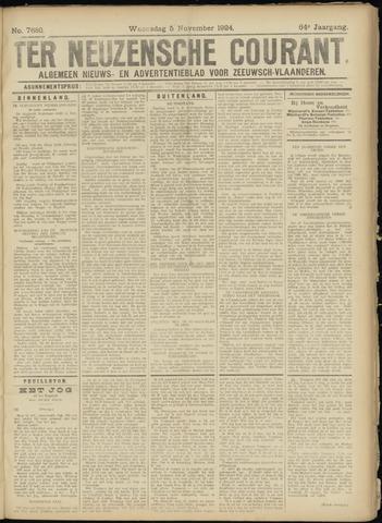 Ter Neuzensche Courant. Algemeen Nieuws- en Advertentieblad voor Zeeuwsch-Vlaanderen / Neuzensche Courant ... (idem) / (Algemeen) nieuws en advertentieblad voor Zeeuwsch-Vlaanderen 1924-11-05