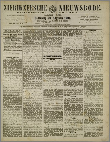 Zierikzeesche Nieuwsbode 1901-08-29