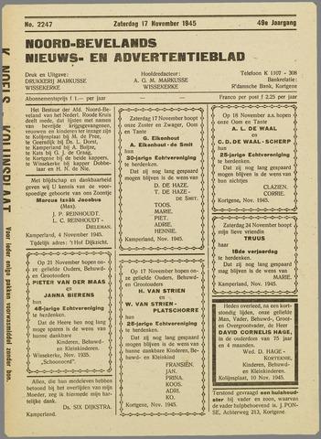 Noord-Bevelands Nieuws- en advertentieblad 1945-11-17