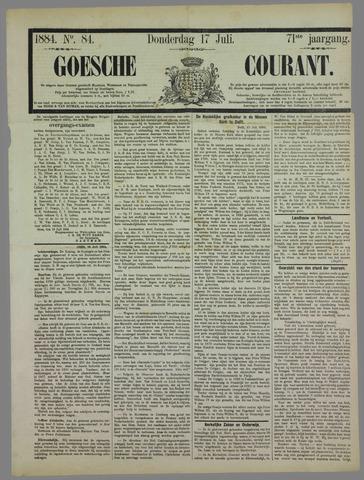 Goessche Courant 1884-07-17