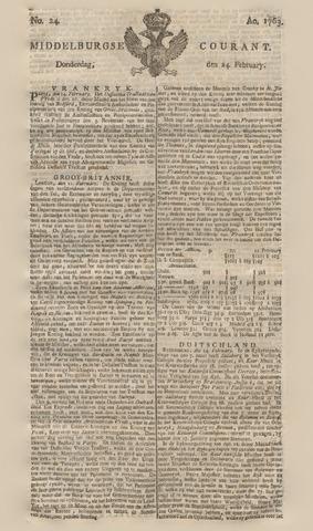 Middelburgsche Courant 1763-02-24