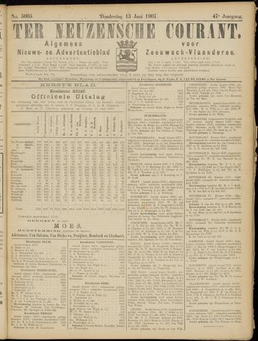 Ter Neuzensche Courant. Algemeen Nieuws- en Advertentieblad voor Zeeuwsch-Vlaanderen / Neuzensche Courant ... (idem) / (Algemeen) nieuws en advertentieblad voor Zeeuwsch-Vlaanderen 1907-06-13