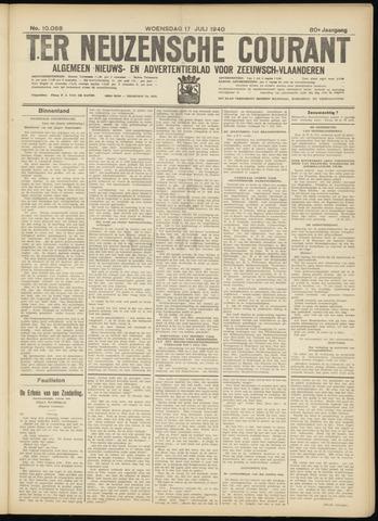 Ter Neuzensche Courant. Algemeen Nieuws- en Advertentieblad voor Zeeuwsch-Vlaanderen / Neuzensche Courant ... (idem) / (Algemeen) nieuws en advertentieblad voor Zeeuwsch-Vlaanderen 1940-07-17