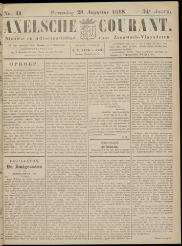 Axelsche Courant 1918-08-28