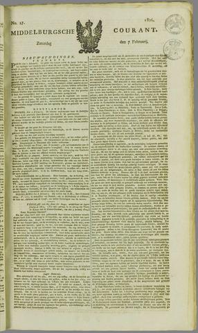 Middelburgsche Courant 1824-02-07