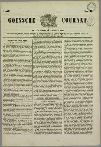 Goessche Courant 1852-02-05