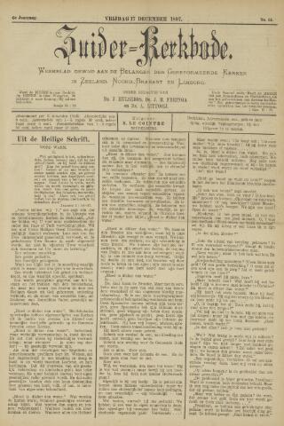 Zuider Kerkbode, Weekblad gewijd aan de belangen der gereformeerde kerken in Zeeland, Noord-Brabant en Limburg. 1897-12-17