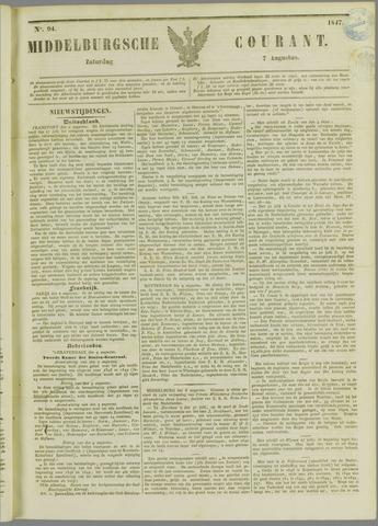 Middelburgsche Courant 1847-08-07