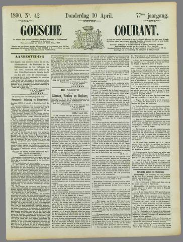Goessche Courant 1890-04-10