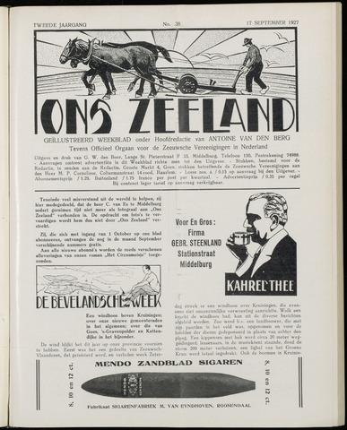 Ons Zeeland / Zeeuwsche editie 1927-09-17