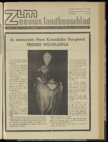 Zeeuwsch landbouwblad ... ZLM land- en tuinbouwblad 1962-11-30