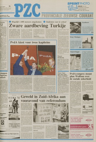 Provinciale Zeeuwse Courant 1992-03-14