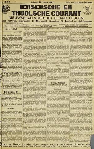 Ierseksche en Thoolsche Courant 1931-03-20