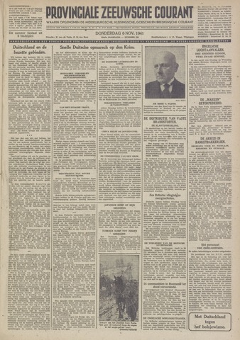 Provinciale Zeeuwse Courant 1941-11-06