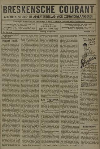 Breskensche Courant 1922-04-29