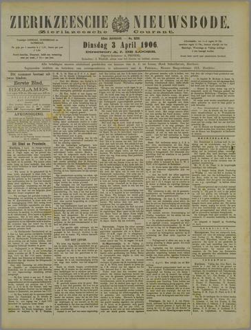 Zierikzeesche Nieuwsbode 1906-04-03