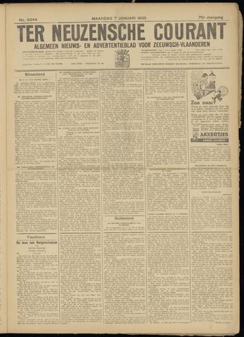 Ter Neuzensche Courant. Algemeen Nieuws- en Advertentieblad voor Zeeuwsch-Vlaanderen / Neuzensche Courant ... (idem) / (Algemeen) nieuws en advertentieblad voor Zeeuwsch-Vlaanderen 1935-01-07