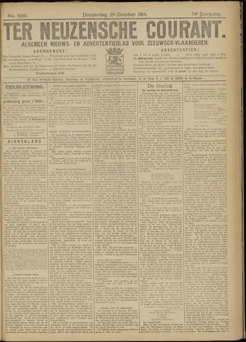 Ter Neuzensche Courant. Algemeen Nieuws- en Advertentieblad voor Zeeuwsch-Vlaanderen / Neuzensche Courant ... (idem) / (Algemeen) nieuws en advertentieblad voor Zeeuwsch-Vlaanderen 1914-10-29