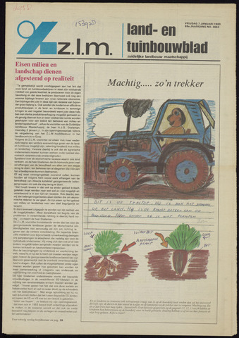 Zeeuwsch landbouwblad ... ZLM land- en tuinbouwblad 1983