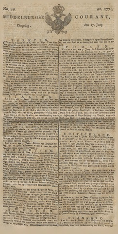 Middelburgsche Courant 1775-06-27