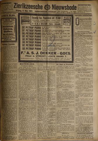 Zierikzeesche Nieuwsbode 1921-11-11