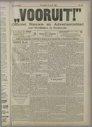 """""""Vooruit!""""Officieel Nieuws- en Advertentieblad voor Overflakkee en Goedereede 1905-04-26"""