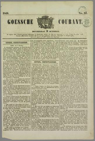 Goessche Courant 1851-10-09