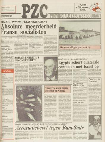 Provinciale Zeeuwse Courant 1981-06-22