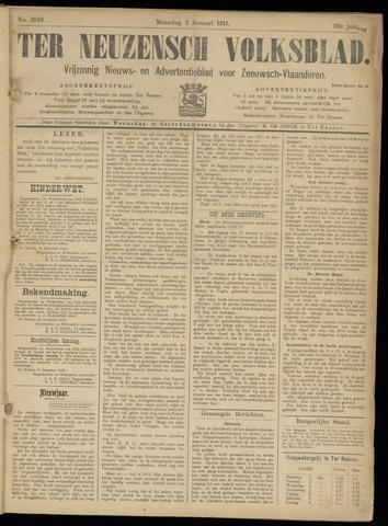 Ter Neuzensch Volksblad. Vrijzinnig nieuws- en advertentieblad voor Zeeuwsch- Vlaanderen / Zeeuwsch Nieuwsblad. Nieuws- en advertentieblad voor Zeeland 1911